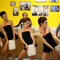 The Marimekko Fly Girls tear it up on the dance floor.