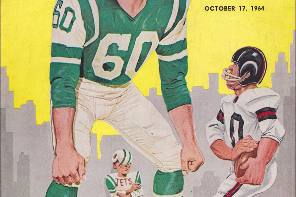 Program for the third Jets game at Shea Stadium. (Wikicommons)