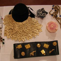 <b>Chanel</b> necklace ($1,500) and belt