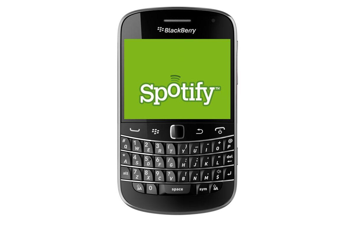 BlackBerry Spotify