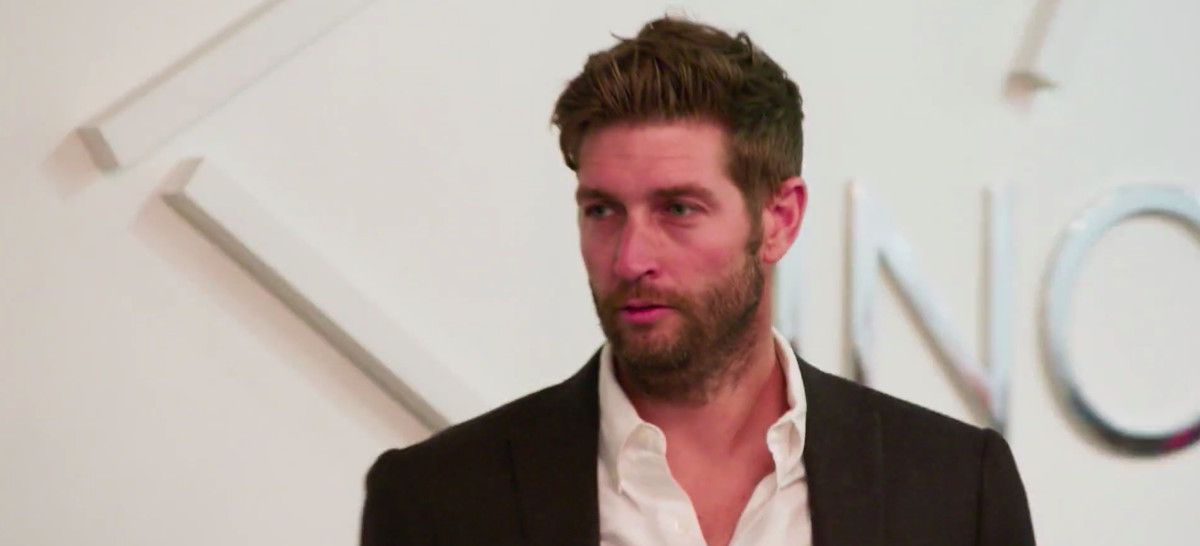 Jay Cutler with his lips slightly parted