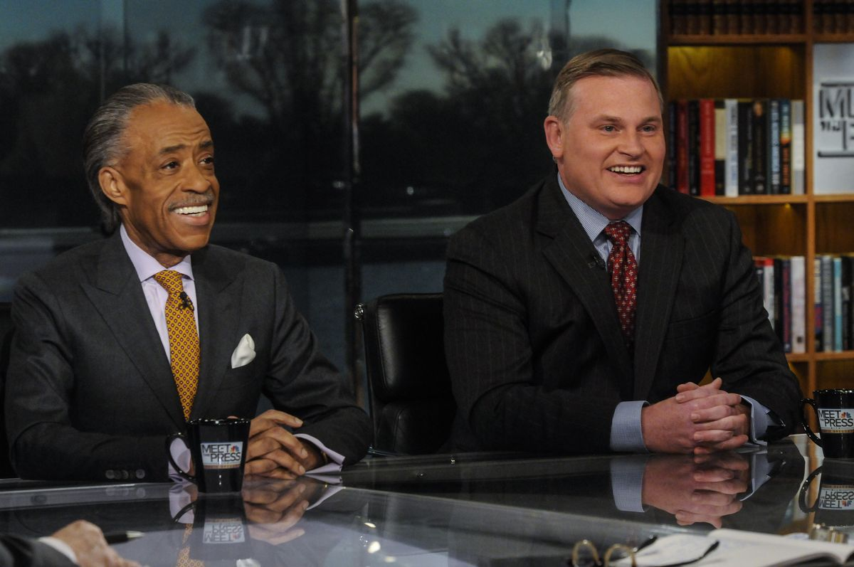 Rev. Al Sharpton and Brian Brown, executive director of the anti-LGBTQ National Organization for Marriage, on Meet the Press.