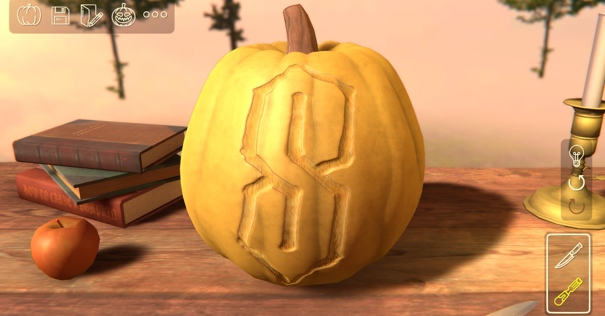 This pumpkin carving sim is a real delight - Polygon