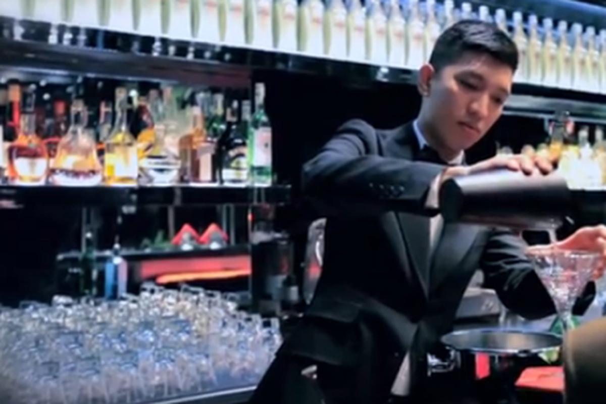 Bryan Boy gets someone else's drink on at D&G