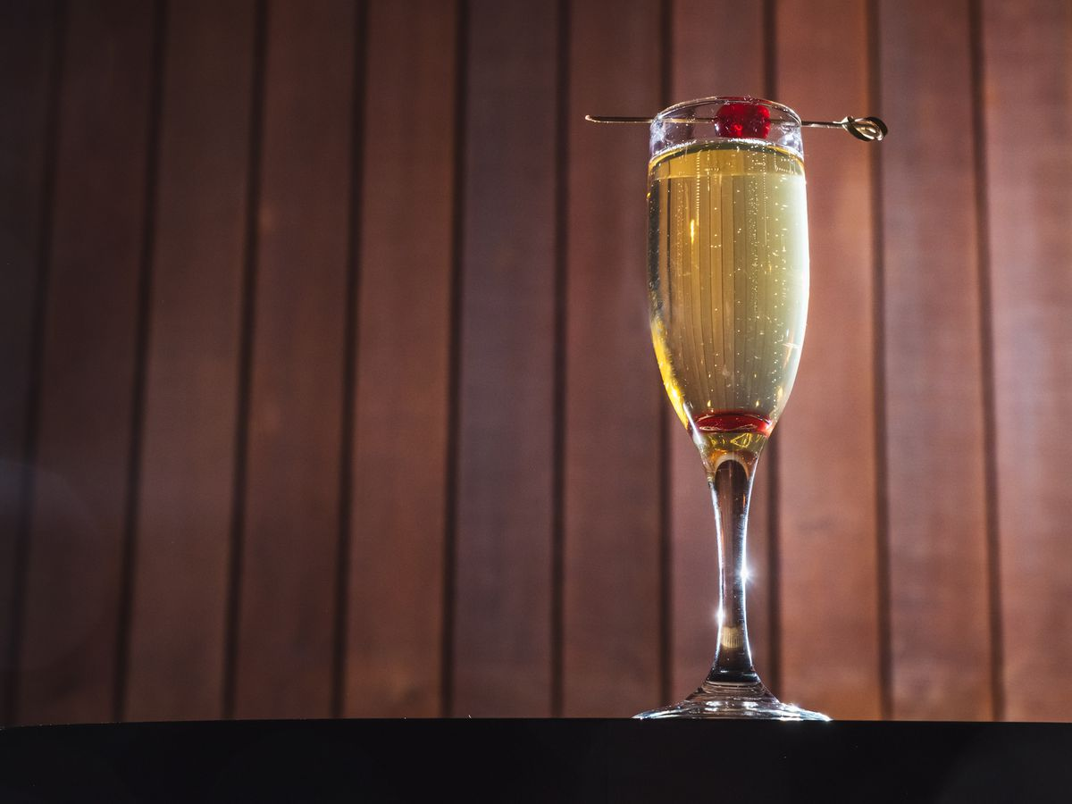 One of the Driftwood Room's champagne cocktails
