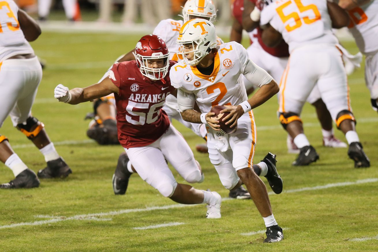 NCAA Football: Tennessee at Arkansas