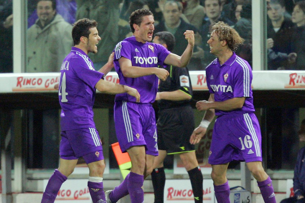 Fiorentina's Giorgio Chiellini (C) celeb