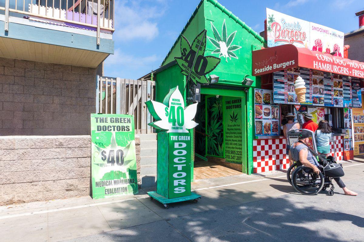 Medical marijuana stand