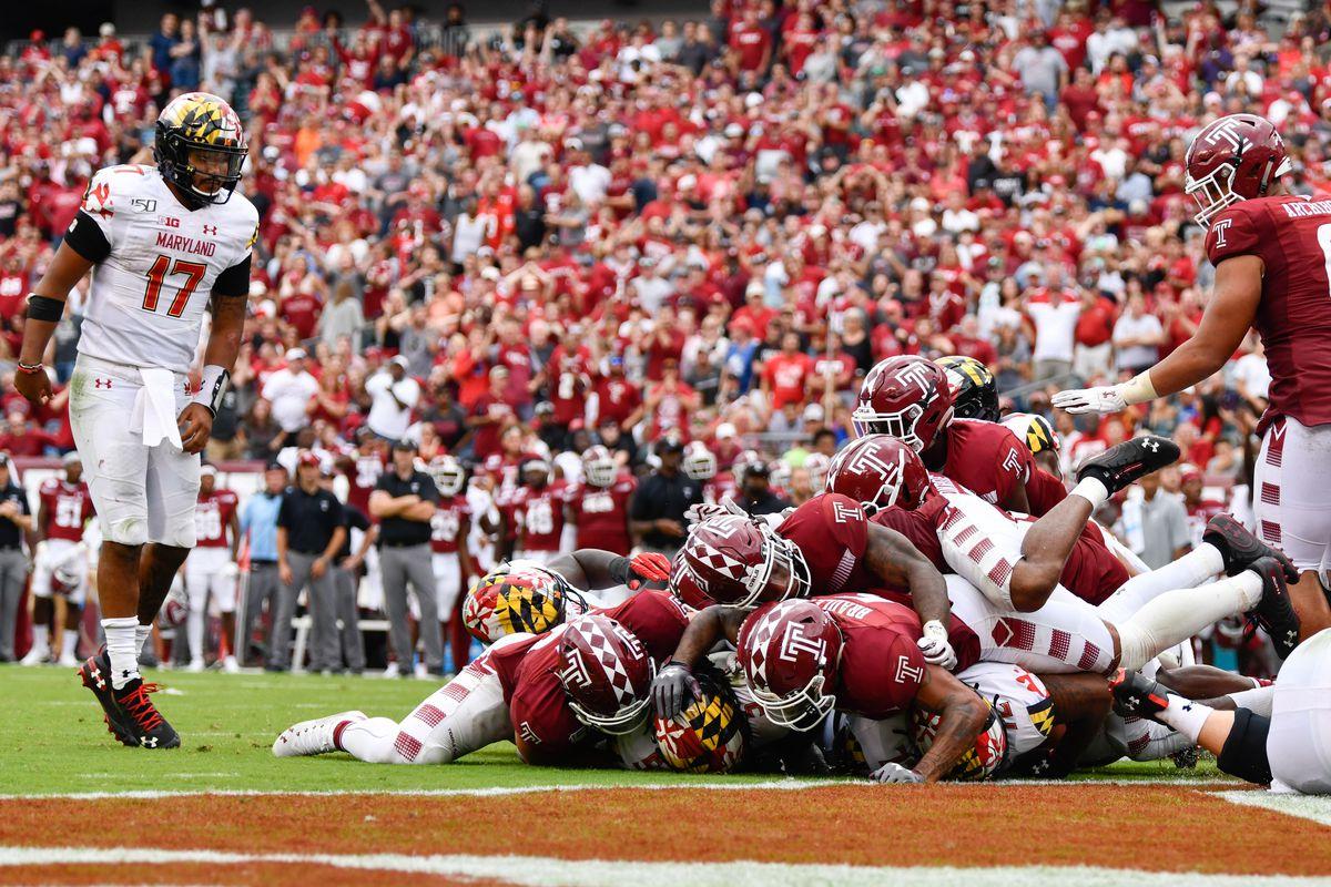 Maryland football at Temple