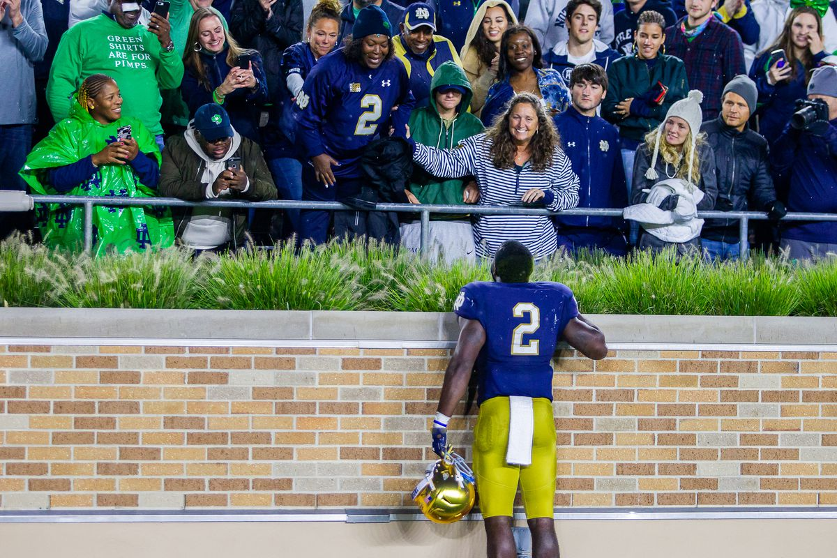 Dexter Williams and his mom notre dame
