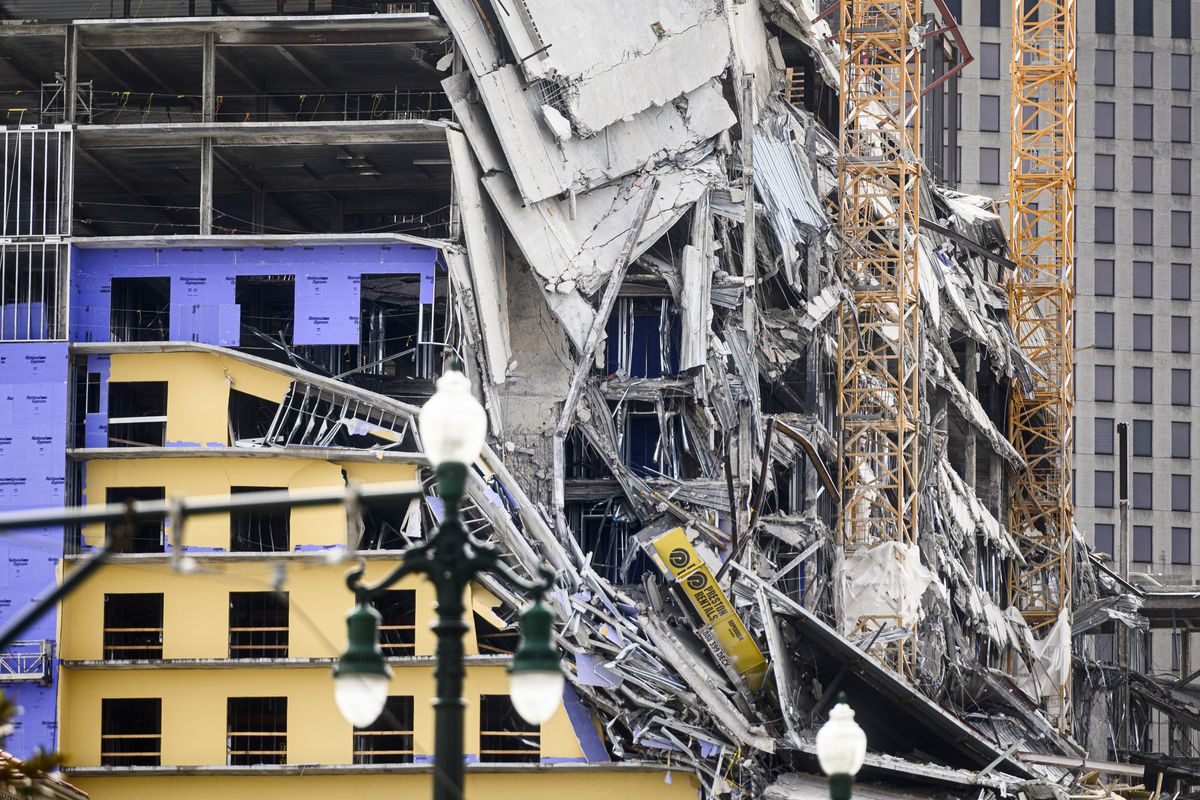 Partially Collapsed Hard Rock Hotel Scheduled For Implosion Curbed New Orleans