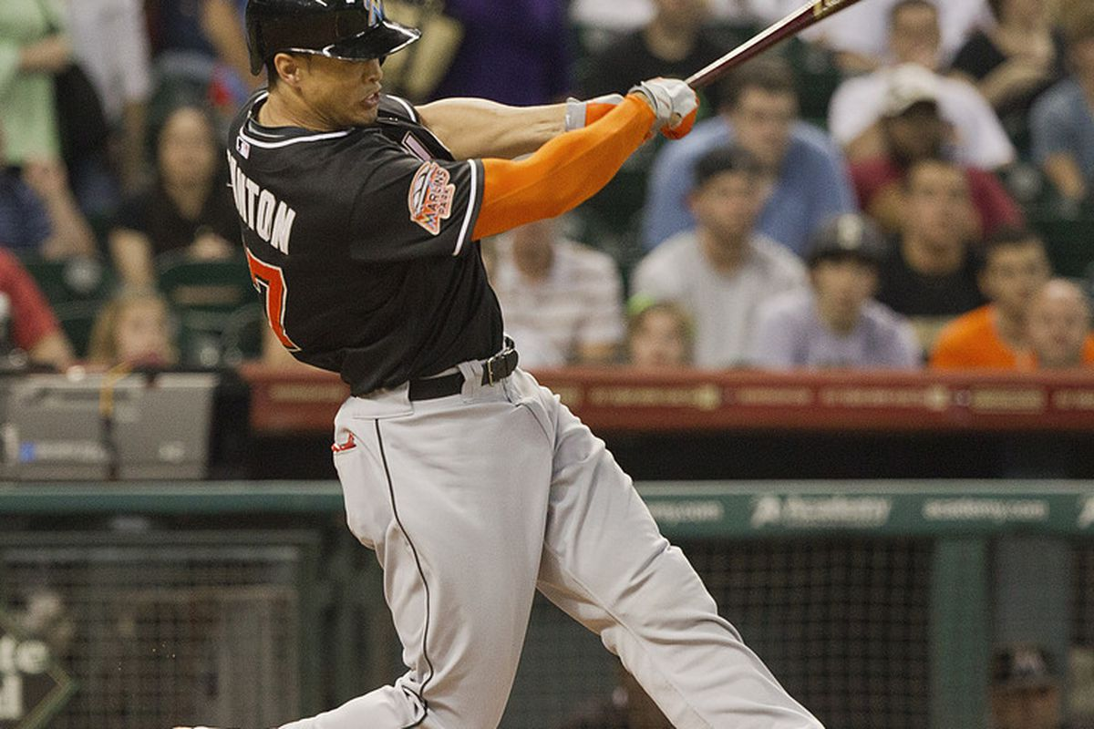 HOUSTON,TX-MAY 07 : Now that's a sweet swing and follow through. (Photo by Bob Levey/Getty Images)