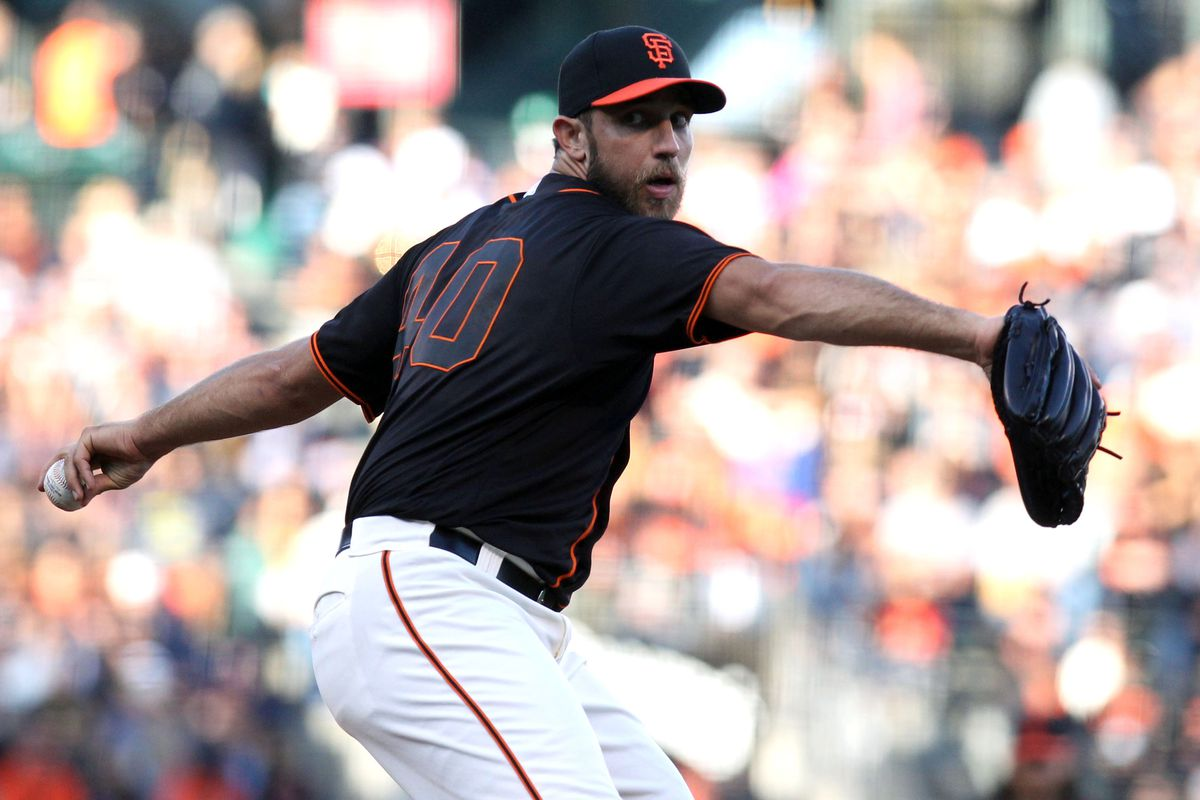 No hits for Bumgarner, though, so he's in a little bit of a slump at the plate