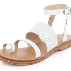 "<b>Rag & Bone</b> Chartan Croc-Embossed-Leather Strappy Sandals, <a href=""http://www.bergdorfgoodman.com/Rag-Bone-Chartan-Croc-Embossed-Leather-Strappy-Sandals-White-rag-bone/prod95590020___/p.prod?icid=&searchType=MAIN&rte=%252Fsearch.jsp%253FN%253D42949"