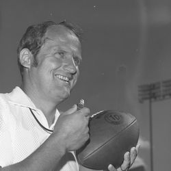Granite High head football coach LaVell Edwards in August 1972.