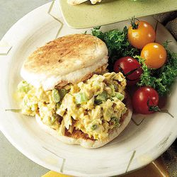 Toasted whole grain muffins go perfectly with high-protein Tuna Salad.