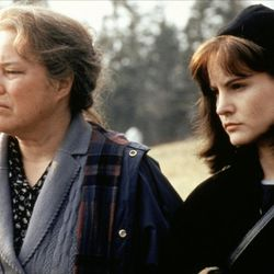 """Kathy Bates and Jennifer Jason Leigh play mother and daughter in the film version of Stephen King's novel """"Dolores Claiborne"""" (1995)."""