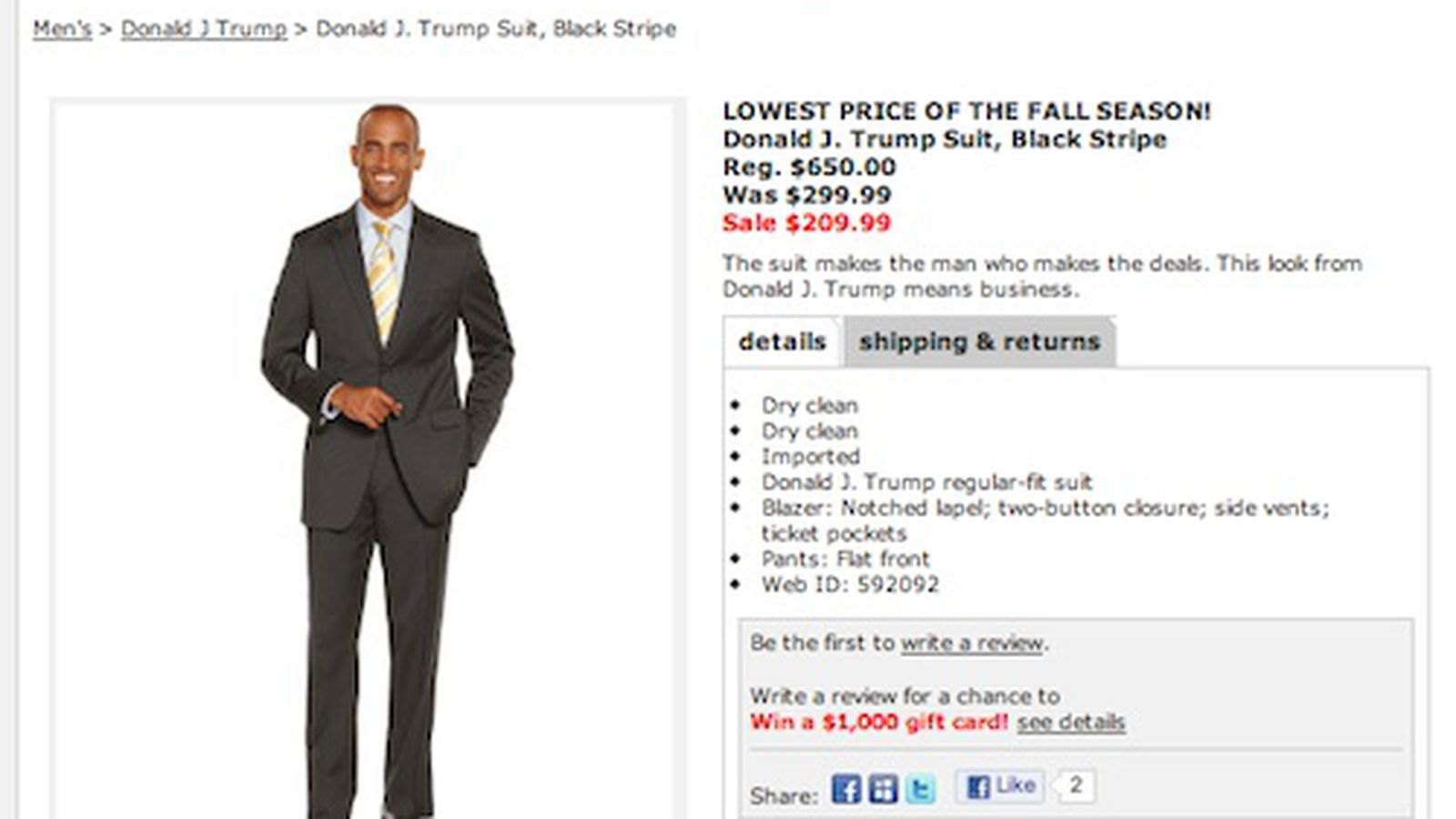 Donald Trump Suits Debut at Macy\'s, Already Marked Down 70% - Racked