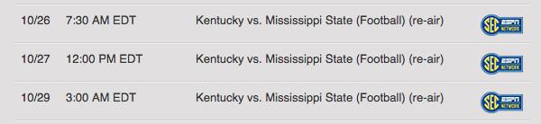 MSU-Kentucky Replays