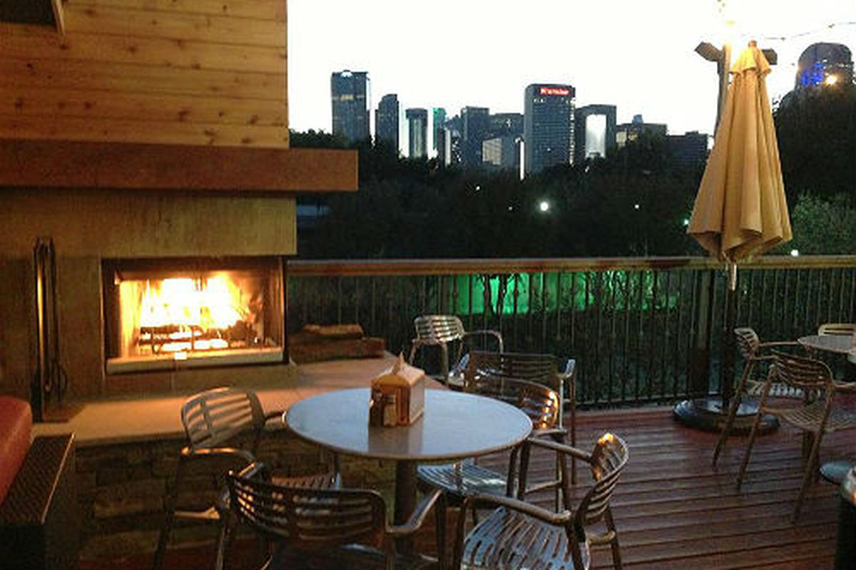 The rooftop patio at Stackhouse Burgers.