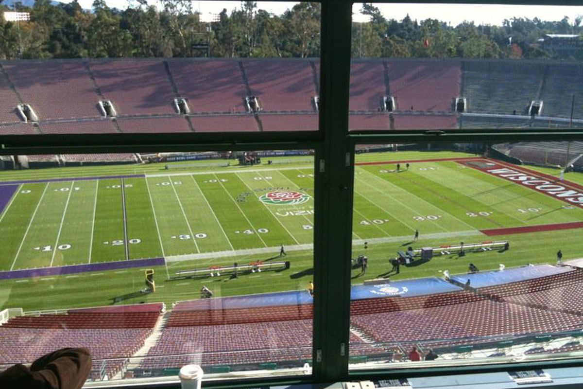 My view of the Rose Bowl today.