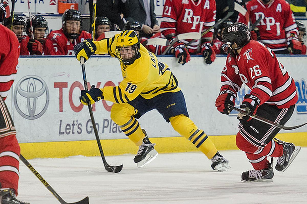Michigan freshman Dylan Larkin (19) continues to shine at his future home.