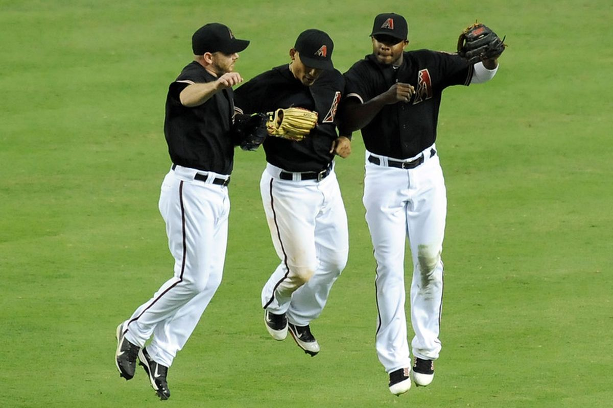 Kubel, Parra and Upton celebrate a victory. But for how many more?