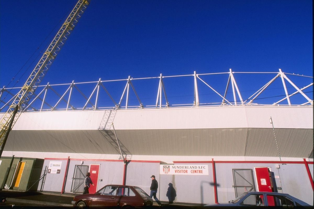 A genral view of the new look Roker Park the home of Sunderland football club