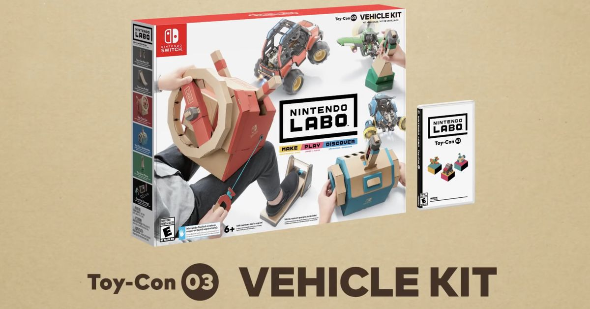 Nintendo Labo Vehicle Kit release date and price announced
