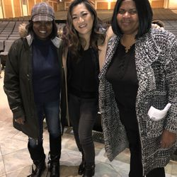 Ji Suk Yi with Roberta Williams (left) and Willamae Turnipseed of AFC Center in Auburn Gresham. | Brian Rich/ Sun-Times