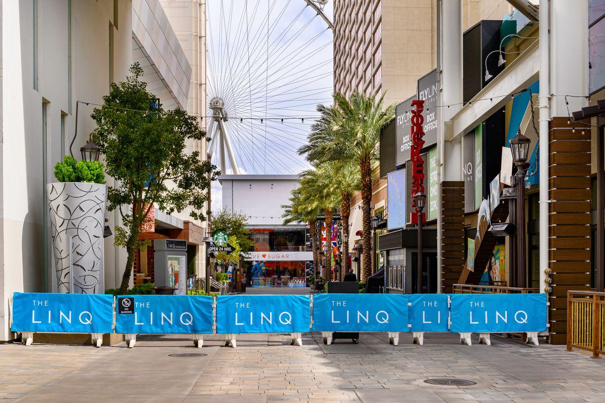 An empty shopping plaza