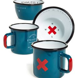 """Best Made Co. <a href=""""http://shop.nordstrom.com/s/best-made-co-seamless-steadfast-enamelware-cups-bowls-plates-set-of-6/3787870?"""">'Seamless & Steadfast' Enamelware Set</a>, $98"""