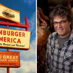"""<a href=""""http://eater.com/archives/2011/05/13/george-motz-on-hamburgers-america-and-secret-sauce.php"""" rel=""""nofollow"""">George Motz on Hamburgers, America, and Secret Sauce</a><br />"""