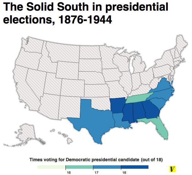 23 maps that explain how Democrats went from the party of racism to the  party of Obama - Vox
