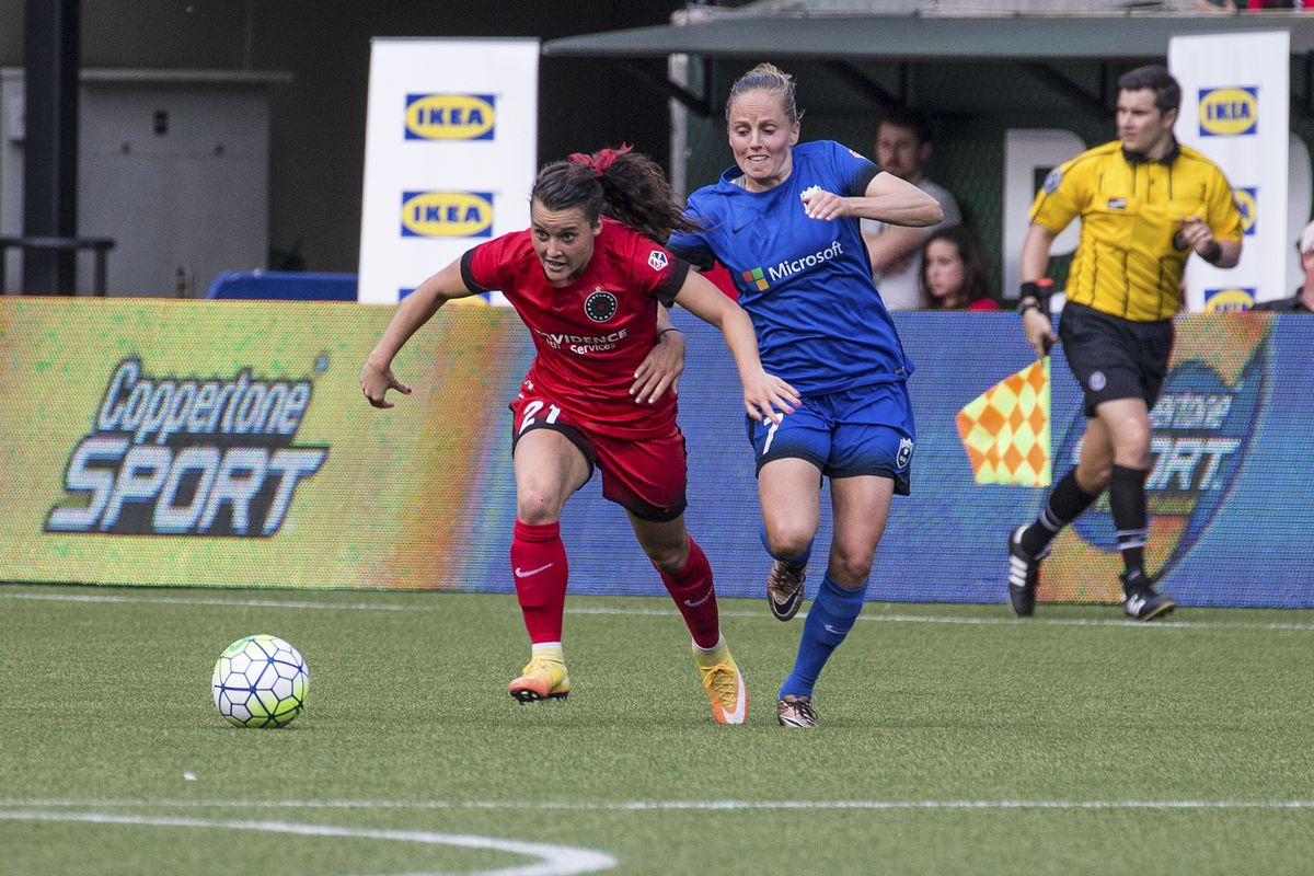 Hayley Raso at times looked the most dangerous player for Portland Thorns FC Saturday night in a 2-1 loss to FC Kansas City