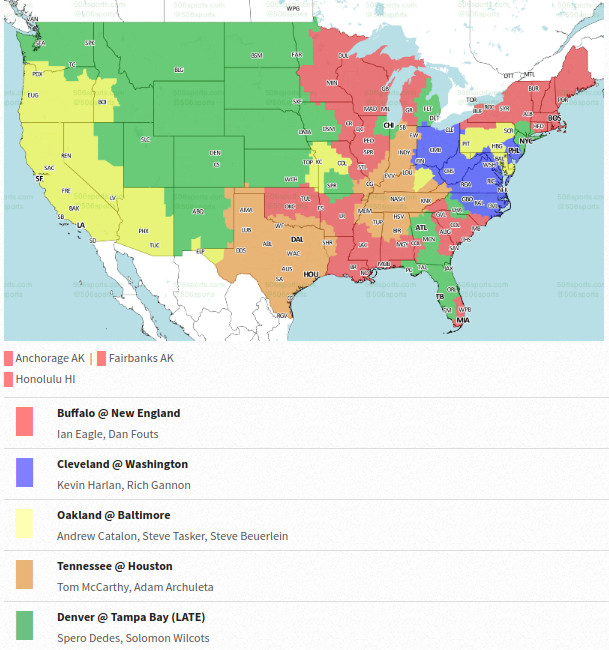 Where Is New England In The Usa Map.Bills Vs Patriots Tv Map Is Wide This Week Buffalo Rumblings