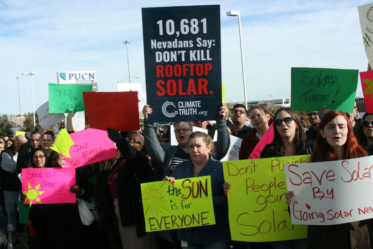solar protest in nevada