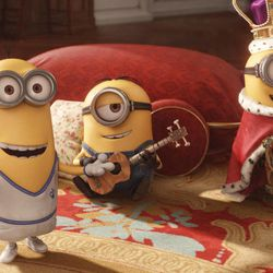 """Kevin, Stuart and Bob live to serve in """"Minions,"""" Universal Pictures and Illumination Entertainment's comedy-adventure in which the Minions try to save all Minionkind ... from annihilation."""