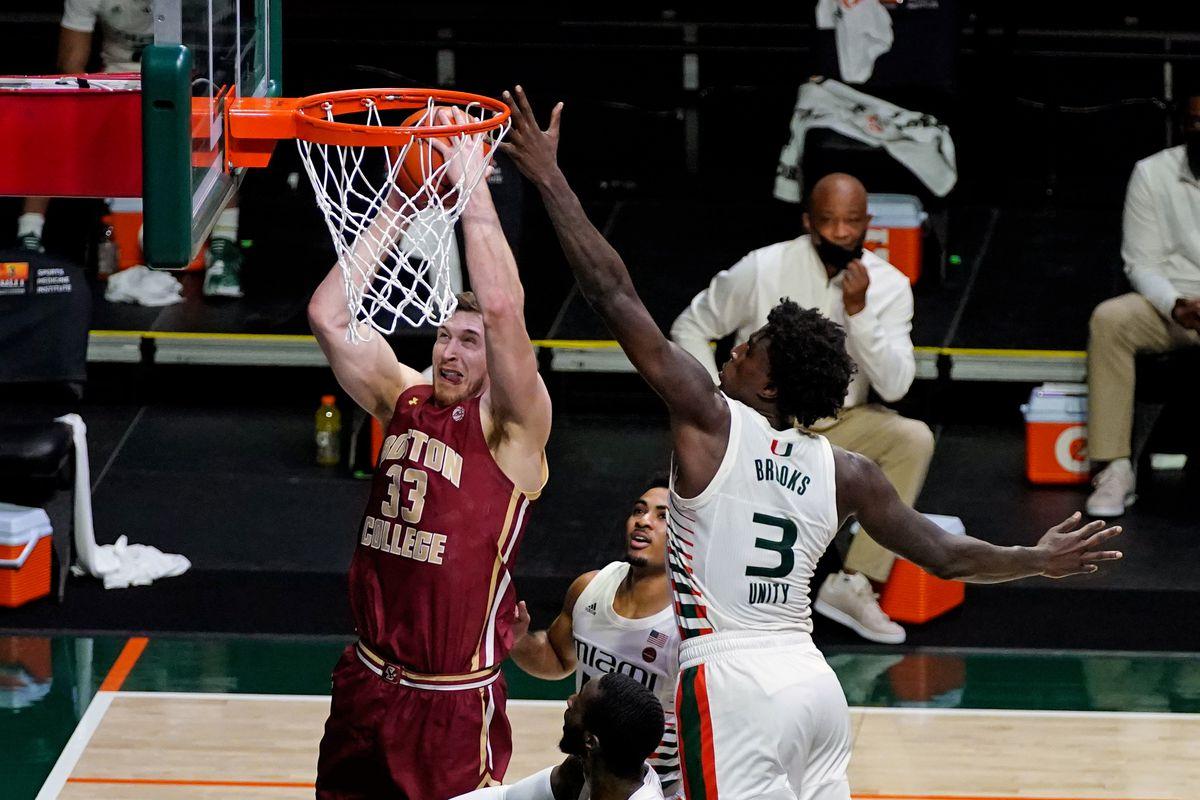 NCAA Basketball: Boston College at Miami-Florida