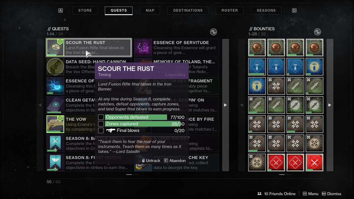 Destiny 2 Scour the Rust Iron Banner quest - Polygon