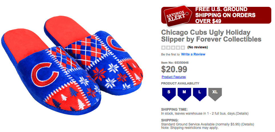 Cubs slippers