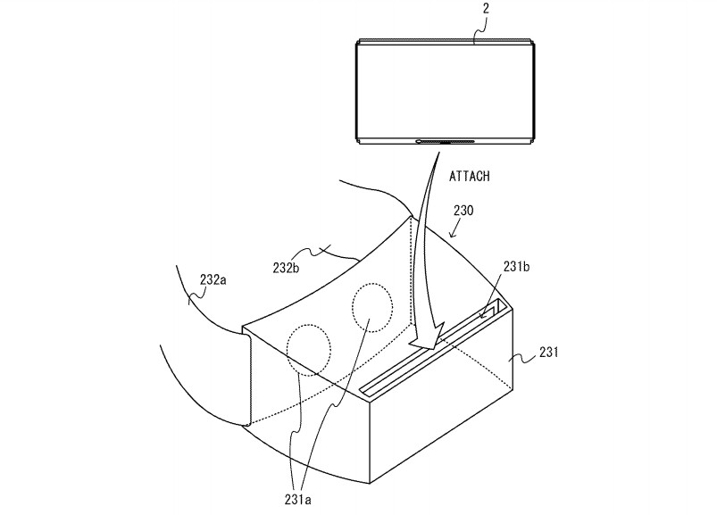 Nintendo Switch VR headset patent