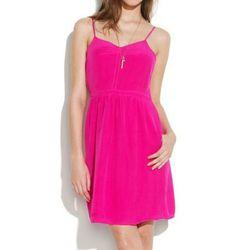"<b>Madewell</b> Silk Cami dress, <a href=""http://www.madewell.com/madewell_category/DRESSES/partyperfect/PRDOVR~85459/85459.jsp"">$150</a>"