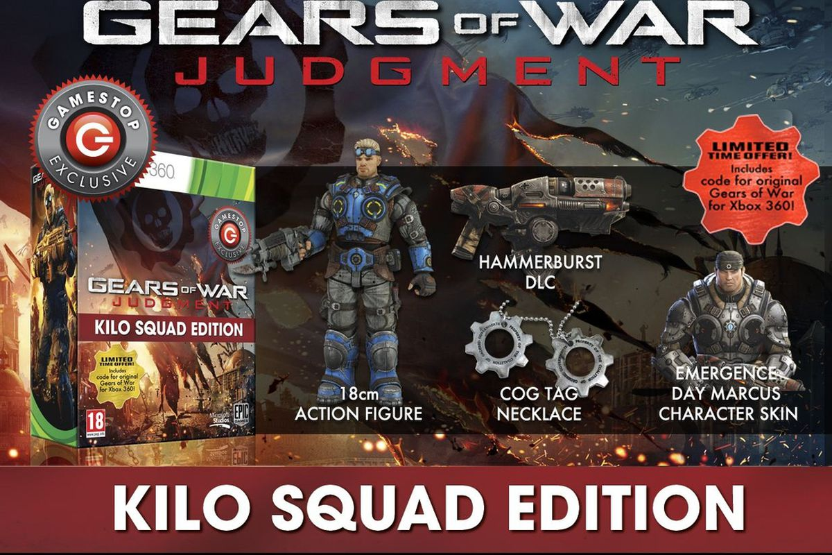 Gears of War: Judgment Kilo Squad Edition gives UK buyers in
