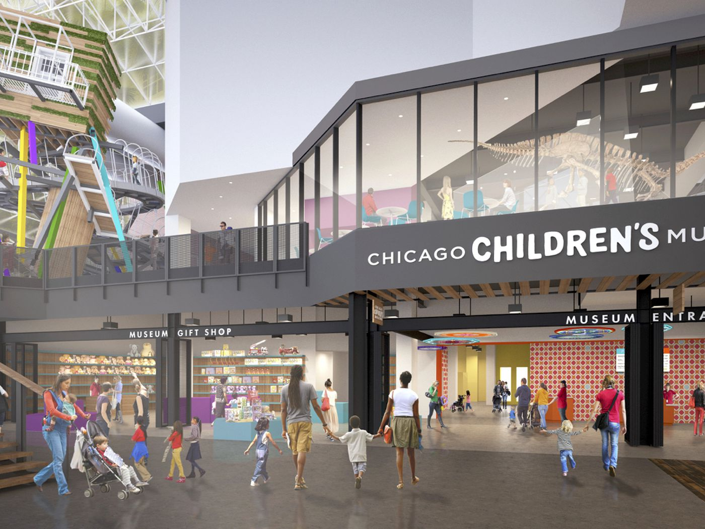 Chicago Childrens Museum Gets Redesign New Climbing Wall