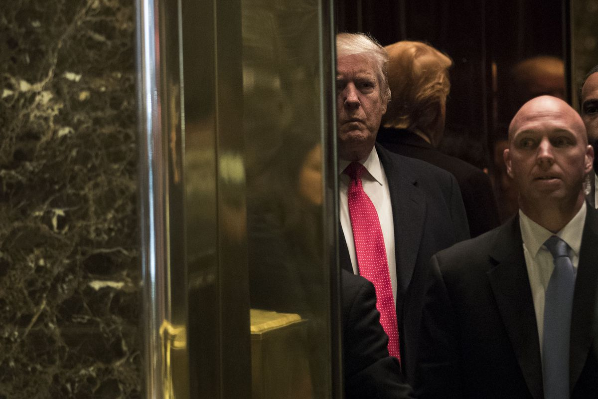 Donald Trump At Tower In 2016 Photo By Drew Angerer Getty Images