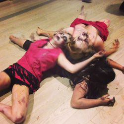 """Possessed performance artists. (See them in action <a href=""""http://instagram.com/p/f9ZLMIiujm/""""target=_blank"""">here</a>.)"""