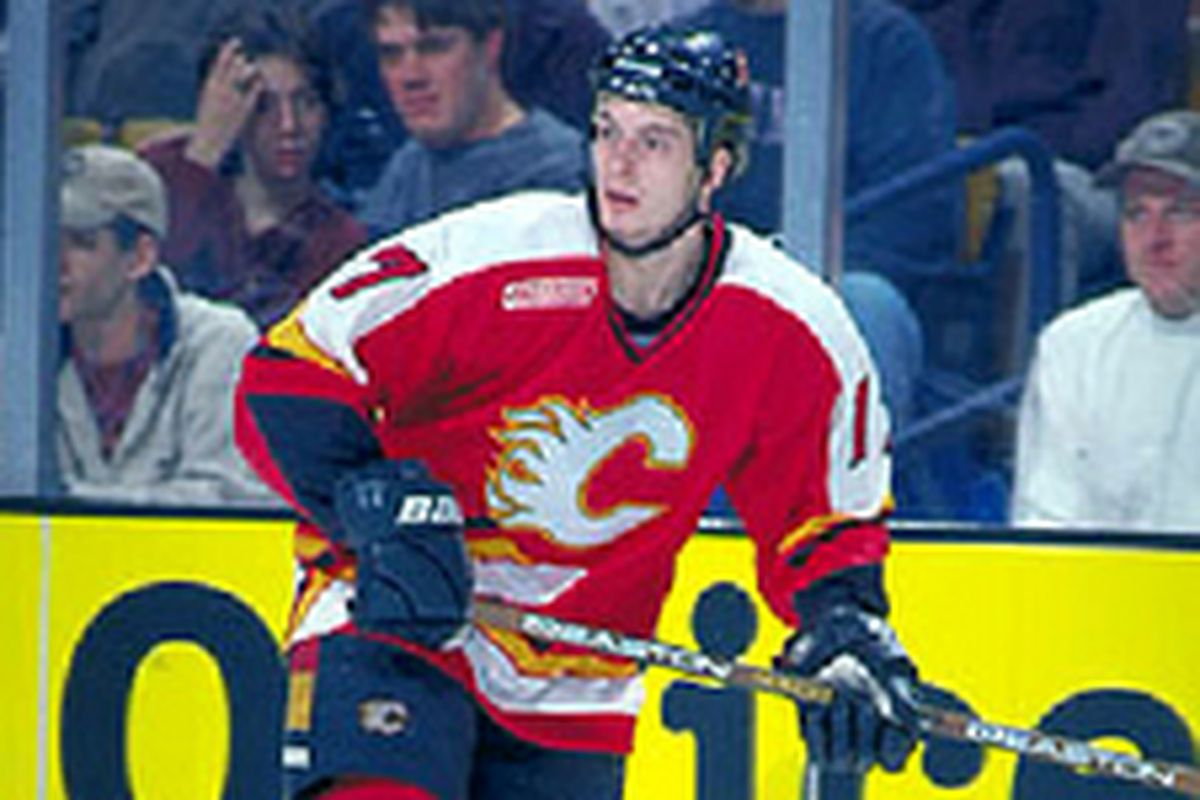 Domenichelli played in 96 games for Calgary over parts of four seasons.