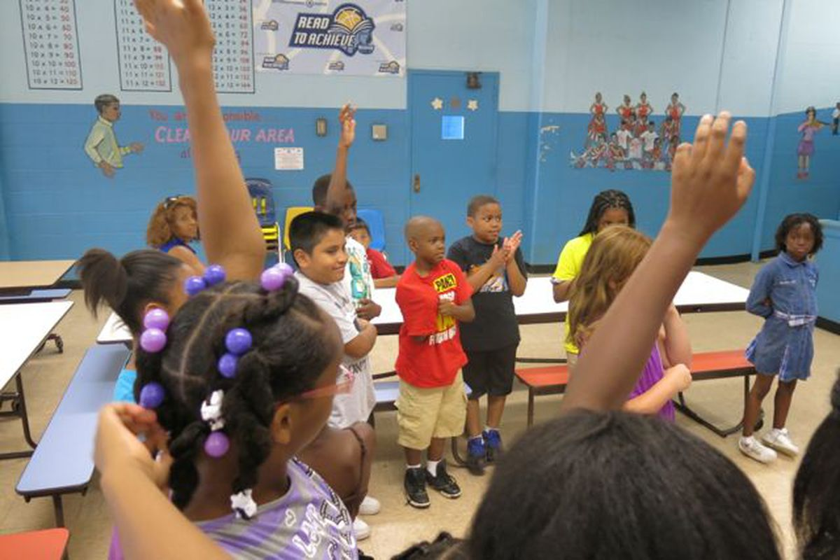 Sharpe Elementary students share what they've learned during summer vocabulary camp.