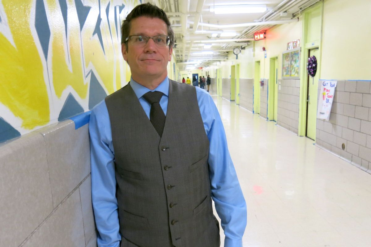Principal James Waslawski designed New Directions Secondary School for middle school students who are overage and off track.